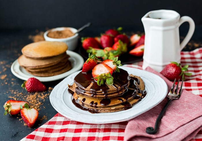 Pancakes in Chocolate